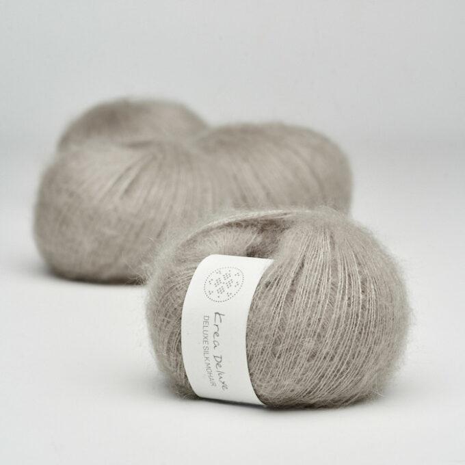 Krea Deluxe Silk Mohair 19 Varm grå