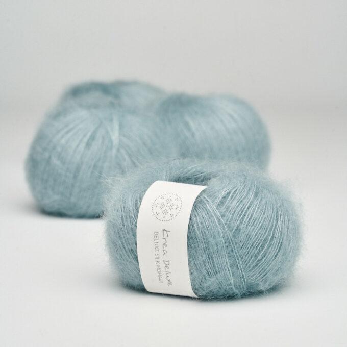Krea Deluxe Silk Mohair 25 Støvet lyseblå