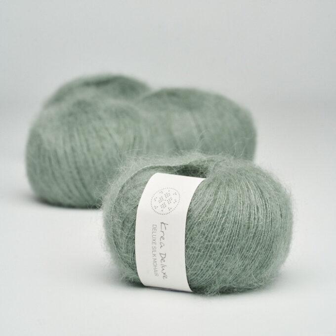 Krea Deluxe Silk Mohair 33 Støvet grøn
