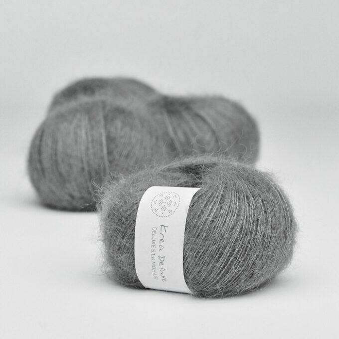 Krea Deluxe Silk Mohair 50 Mørkegrå