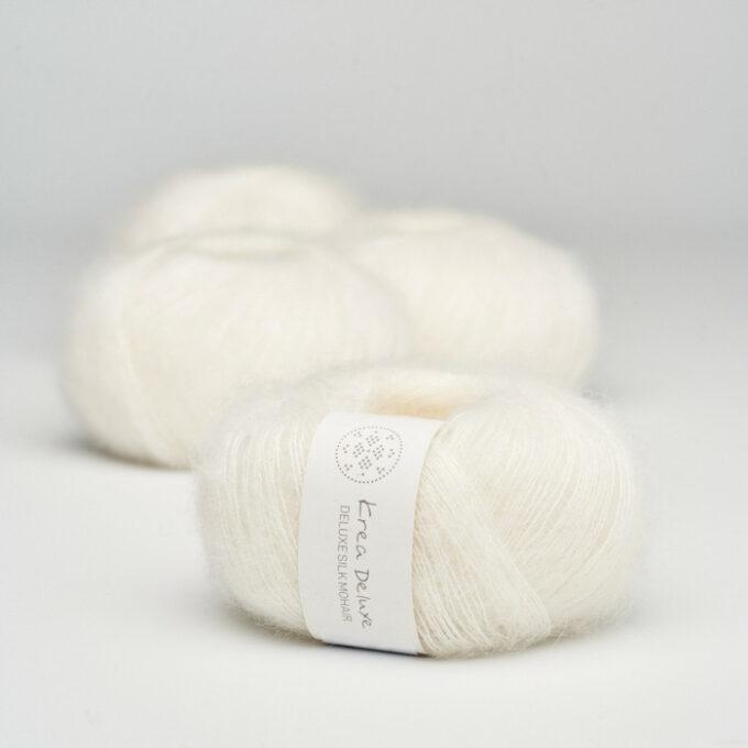 Krea Deluxe Silk Mohair 01 Natur Hvid