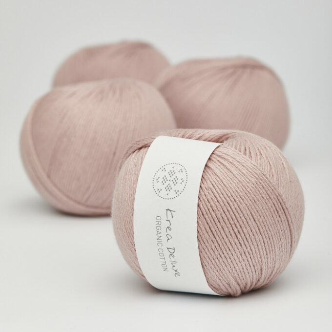 Krea Deluxe Organic Cotton 14 lys støvet rosa