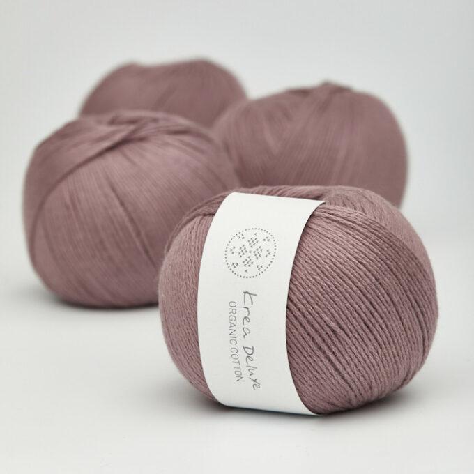 Krea Deluxe Organic Cotton 16 mørk støvet rosa