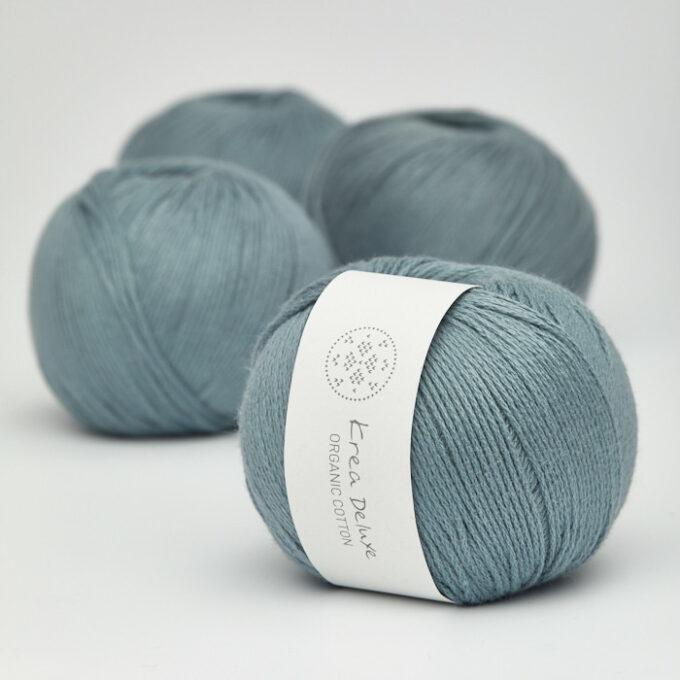 Krea Deluxe Organic Cotton 21 støvet blå