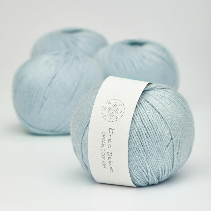 Krea Deluxe Organic Cotton 22 lys blå