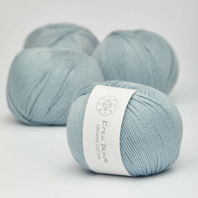 Krea Deluxe Organic Cotton 25 støvet lys blå