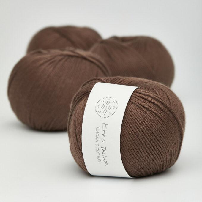 Krea Deluxe Organic Cotton 29 mørk brun