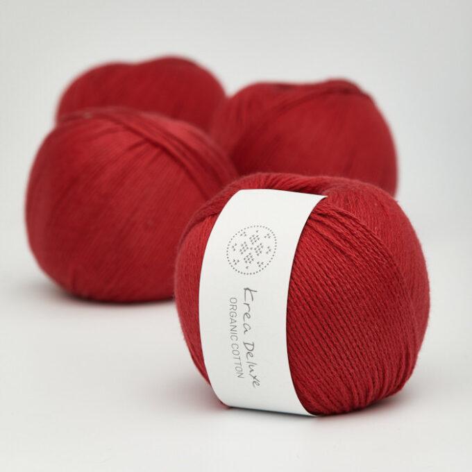 Krea Deluxe Organic Cotton 35 rød