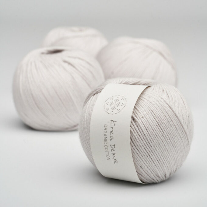 Krea Deluxe Organic Cotton 47 sart lys grå