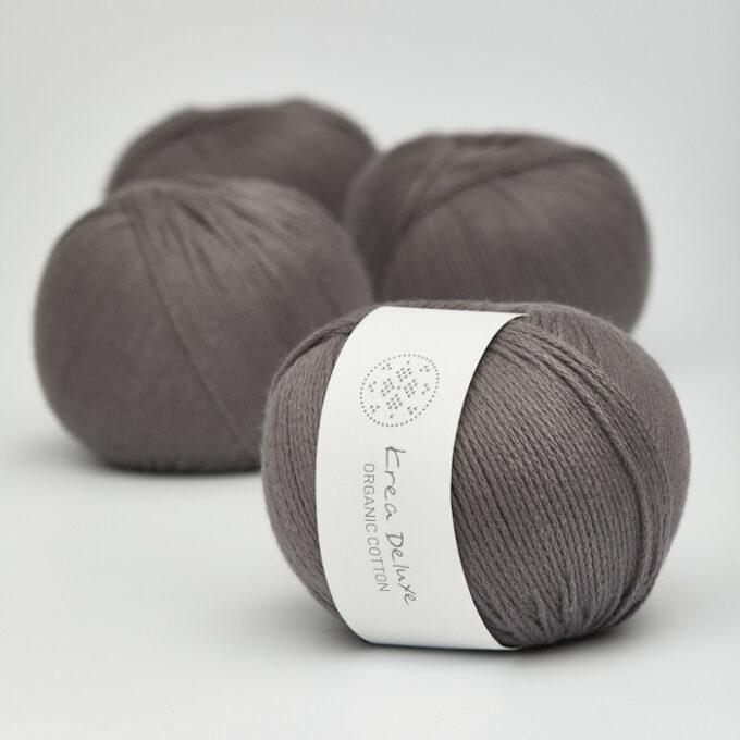 Krea Deluxe OrganicCotton 50 mørk grå