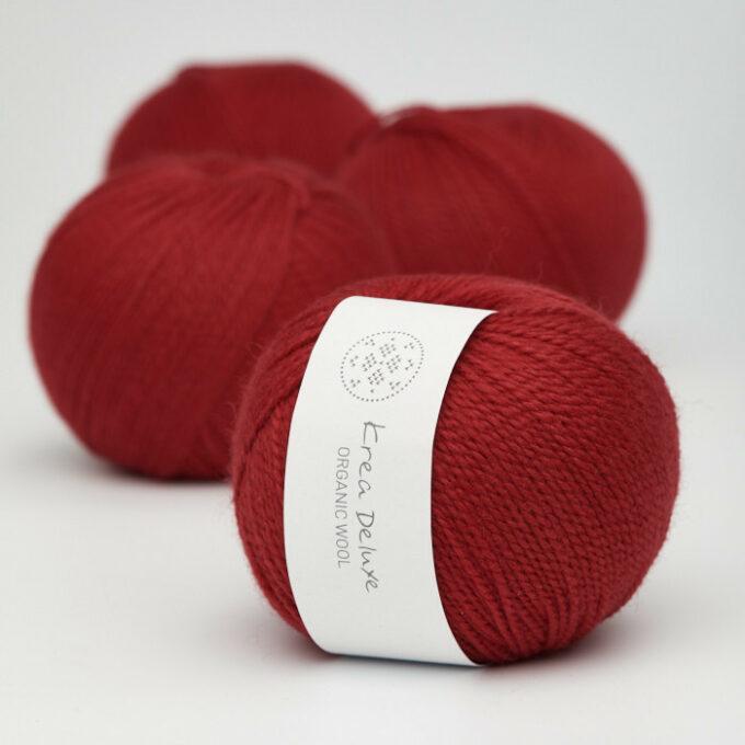 Krea Deluxe Organic Wool 1 35 Rød