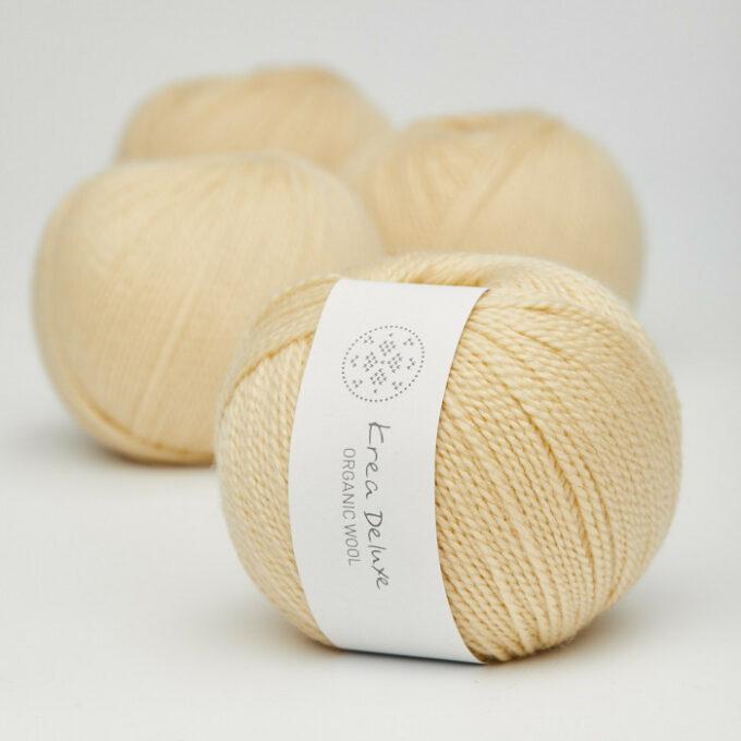 Krea Deluxe Organic Wool 1 04 Lys Gul