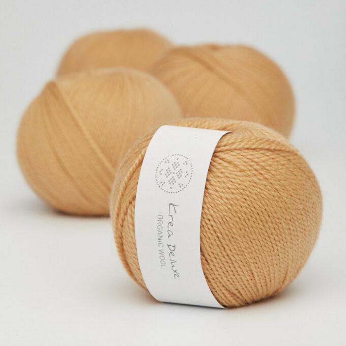 Krea Deluxe Organic Wool 1 06 Mørk gul