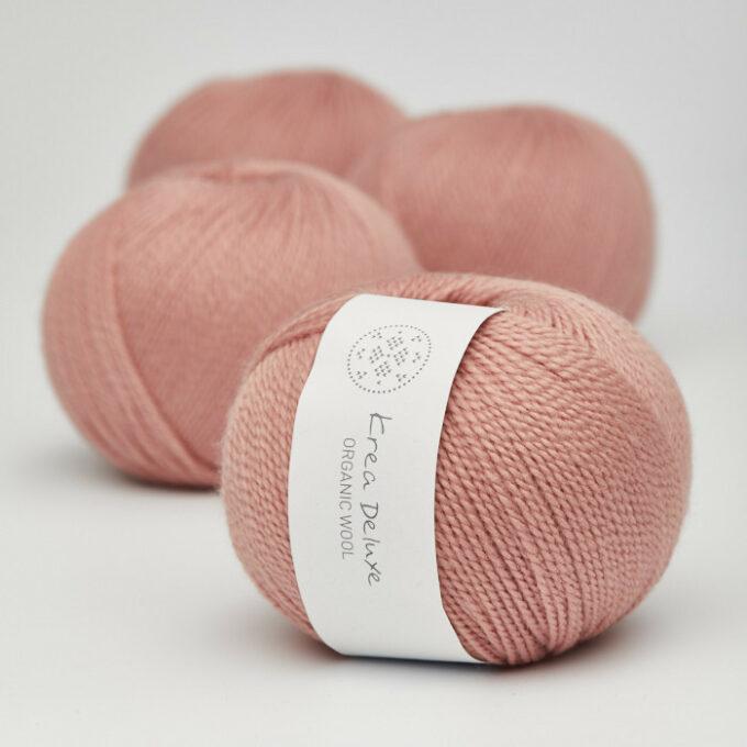 Krea Deluxe Organic Wool 1 10 Varm rosa