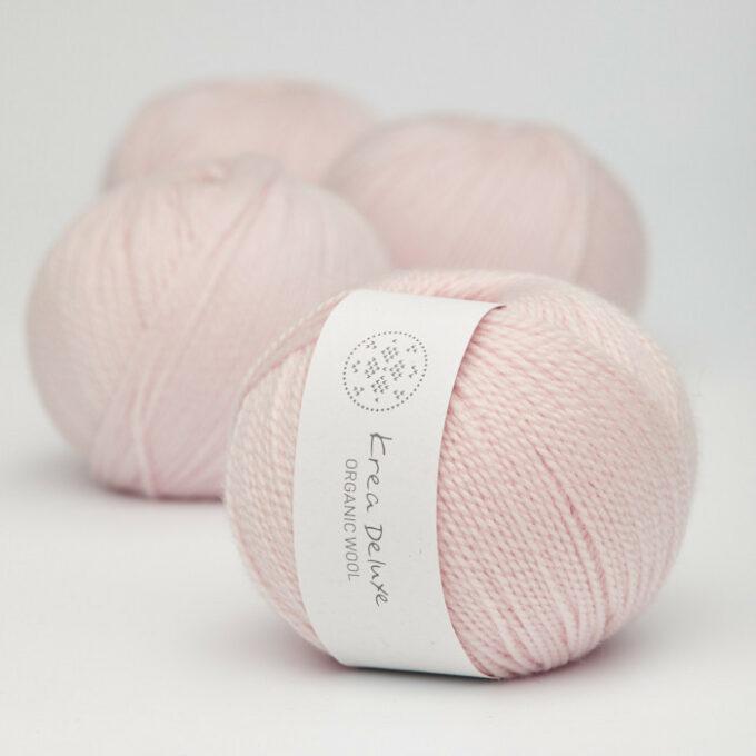 Krea Deluxe Organic Wool 1 11 lyserød
