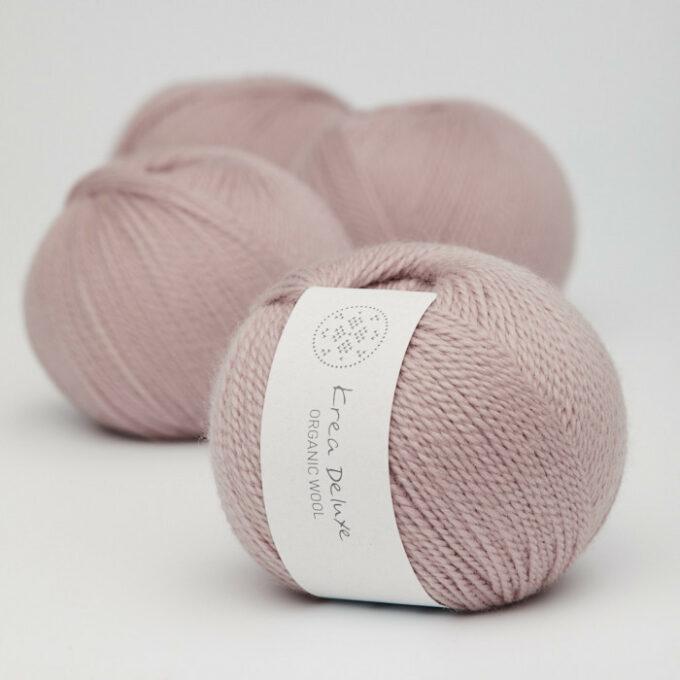 Krea Deluxe Organic Wool 1 14 Lys støvet rosa