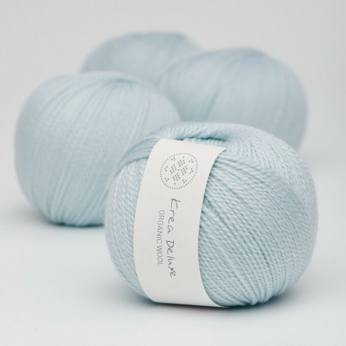 Kra Deluxe Organic Wool 1 24 Lys Isblå