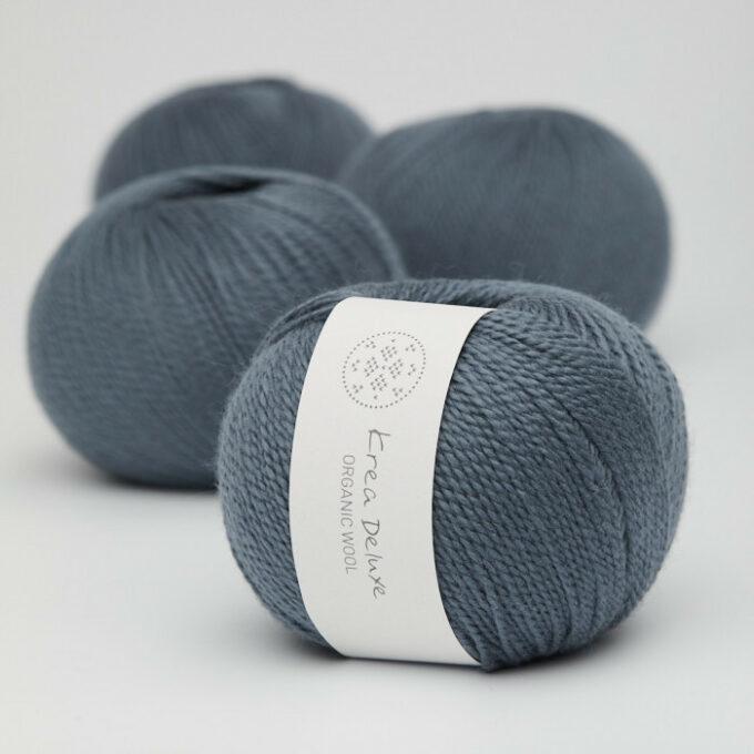 Krea Deluxe Organic Wool 1 26 Mørkeblå