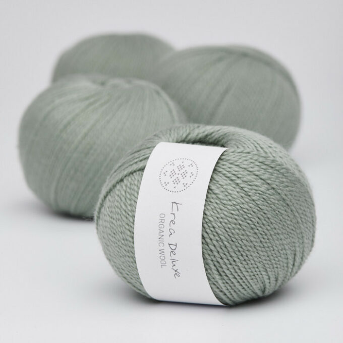 Krea Deluxe Organic Wool 1 32 Lysegrøn