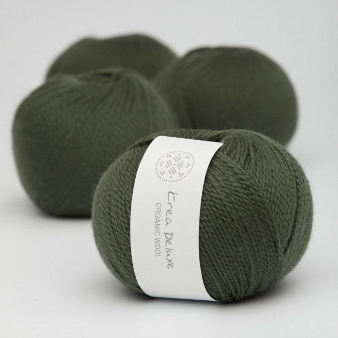 Krea Deluxe Organic Wool 1 36 Mørkegrøn