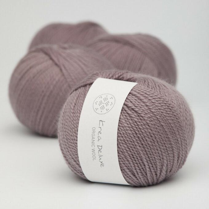 Krea Deluxe Organic Wool 1 44 Støvet Lavendel