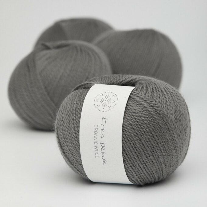 Krea Deluxe Organic Wool 1 50 Mørkegrå