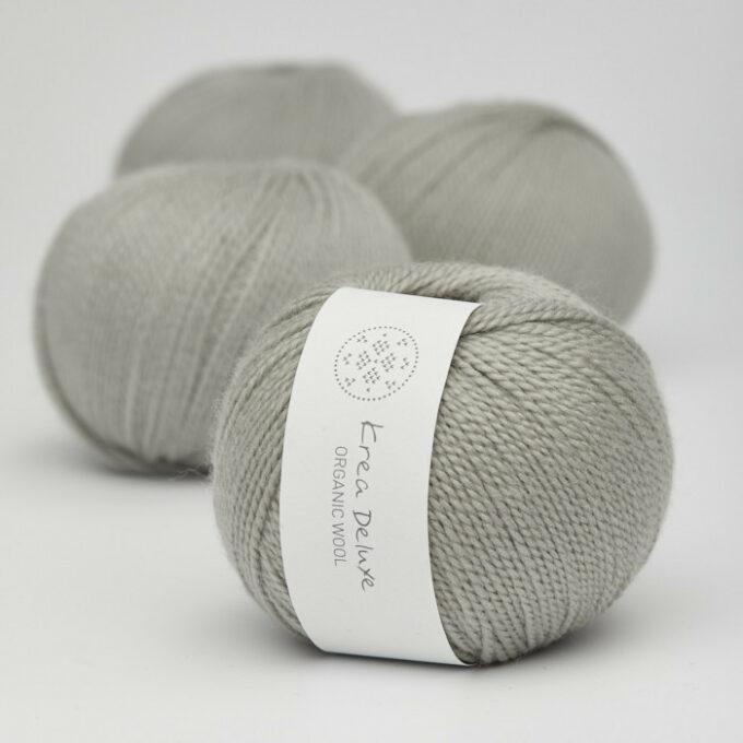 Krea Deluxe Organix Wool 1 51 Lys Grå