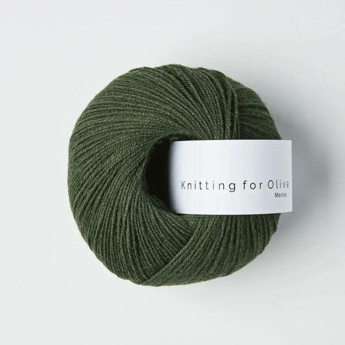 Knitting for Olive Merino Flaskegrøn