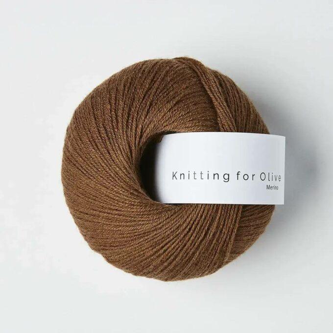 Knitting for Olive Merino Mørk Cognac