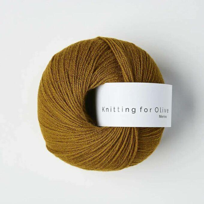 Knitting for Olive Merino Mørk okker
