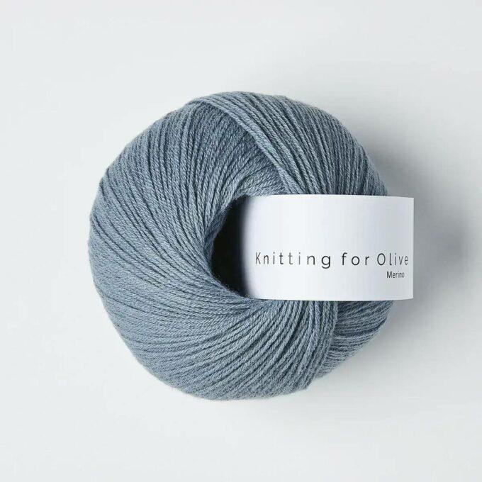 Knitting for Olive Merino Støvet Dueblå